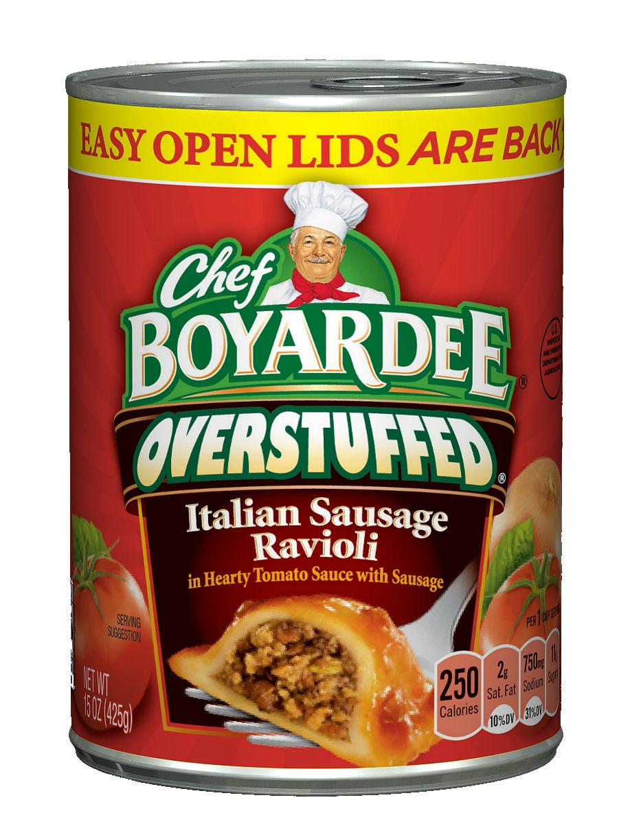 Chef Boyardee Overstuffed Italian Sausage Ravioli, 15 Oz. by ConAgra Foods Inc.
