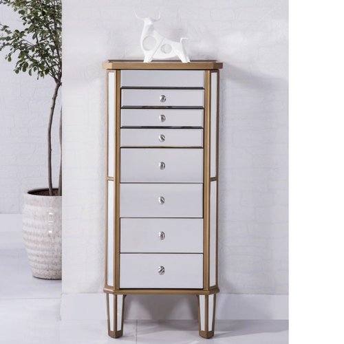 Wildon Home 7 Drawer Jewelry Armoire with Mirror by