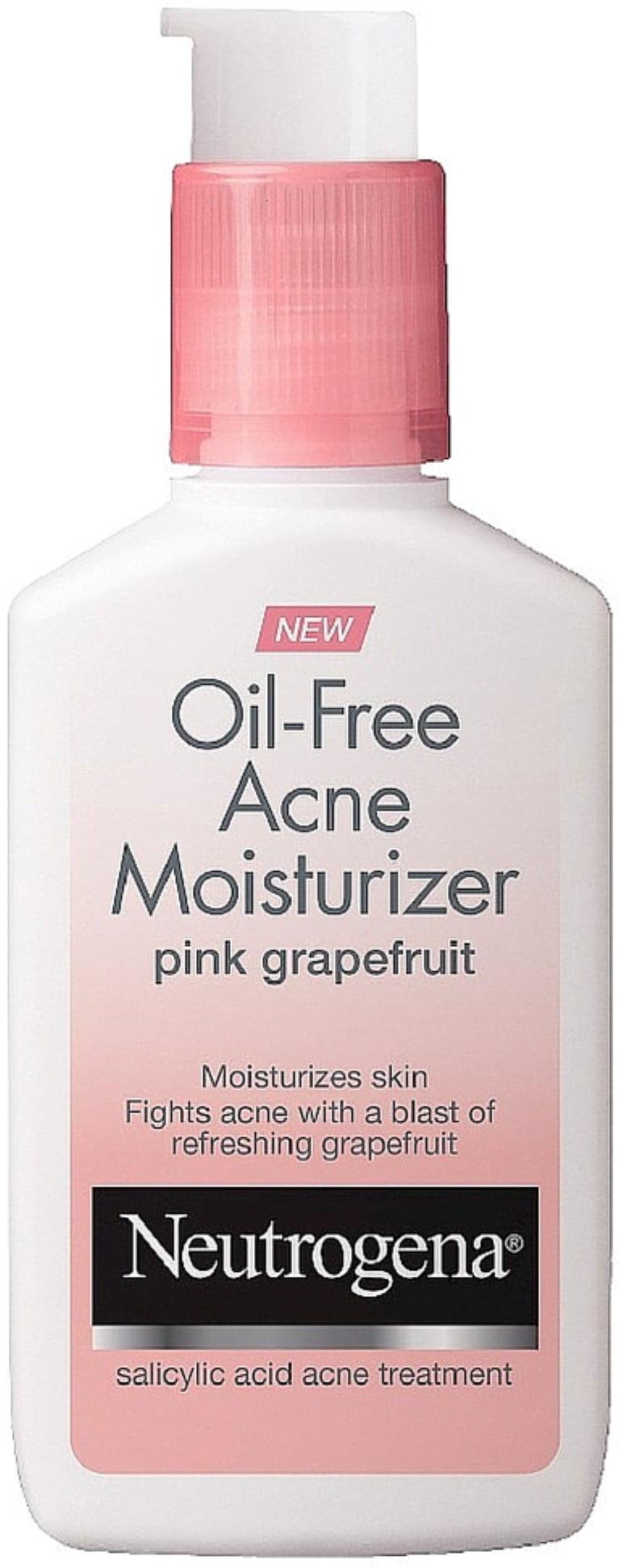Neutrogena Oil-Free Acne Moisturizer, Pink Grapefruit 4 oz (Pack of 3) by
