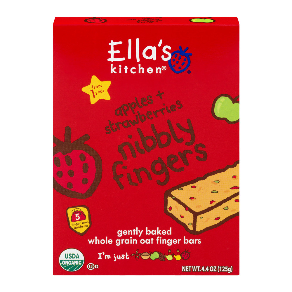Ella's Kitchen Apples & Strawberries Nibbly Fingers 1yr+, 5.0 CT
