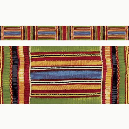 Kente Cloth Bolder Borders / BBS Bulletin Board Sets, Straight Edge; no. T-85092 - Borders For Bulletin Boards