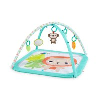 Bright Starts Safari Blast Activity Gym and Play Mat with Take-Along Toys, Ages Newborn +