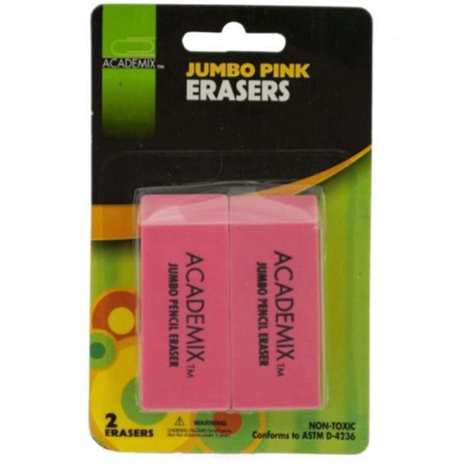 Bulk Buys KL20568 Jumbo Pencil Eraser Set, Pink