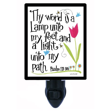 Religious Light (Night Light - Photo Light - Thy Word is a Lamp - Religious - Psalms 119 )