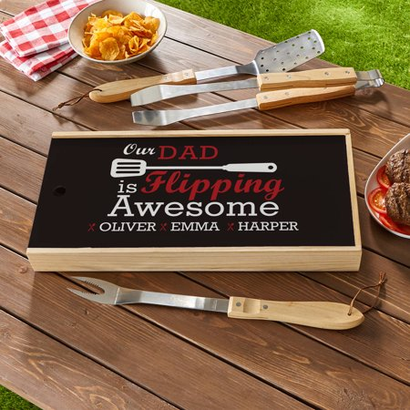 Personalized Flipping Awesome BBQ Tool Set, Available in My or Our