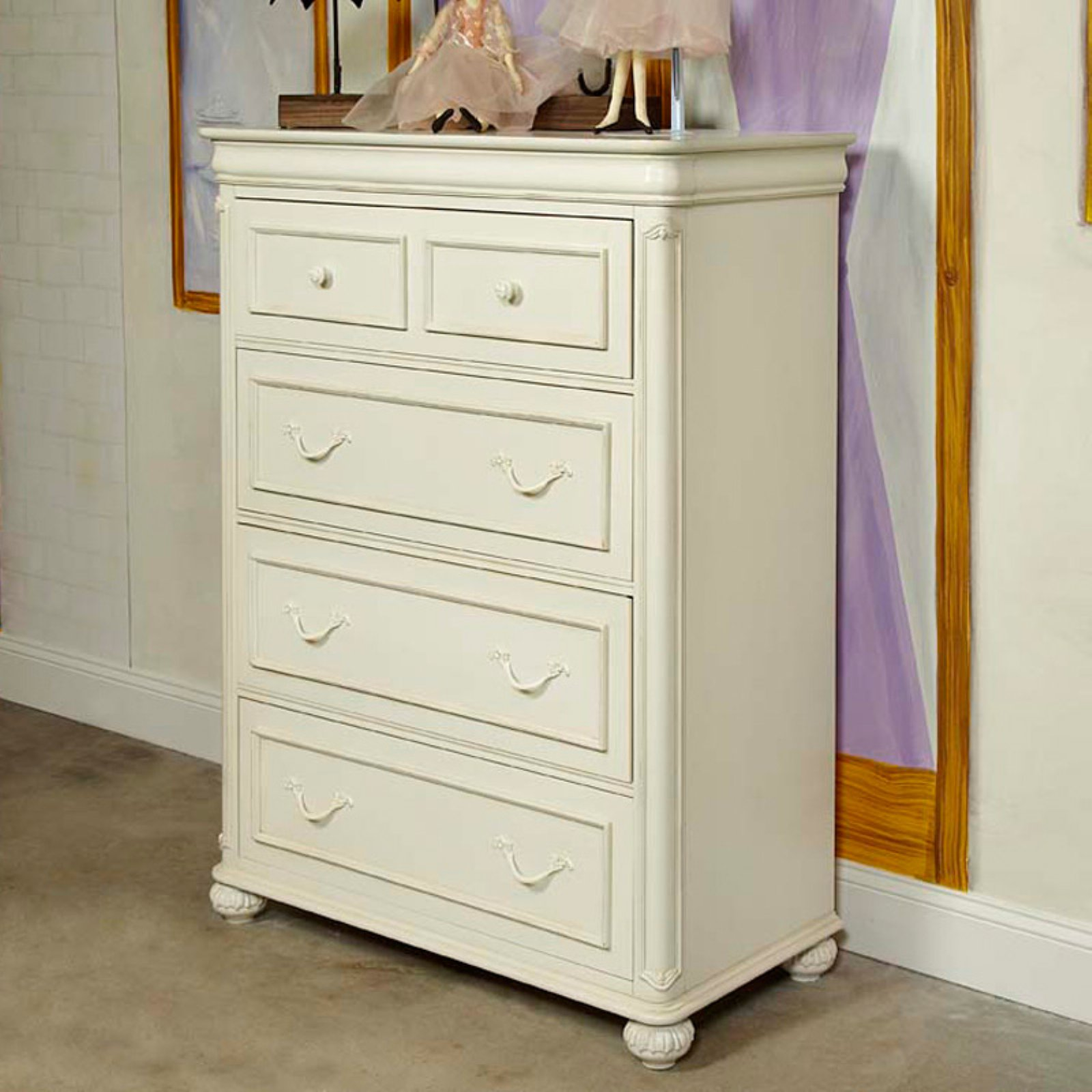 Charlotte 4 Drawer Chest - Antique White