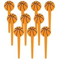 "Basketball 3"" Cupcake Picks (36 Pack) - Party Supplies"