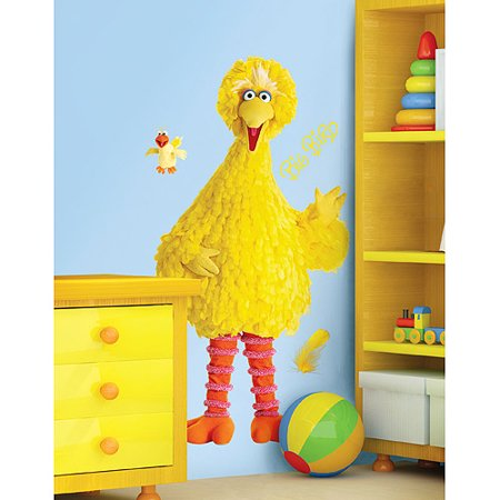 Roommates   Big Bird Peel   Stick Giant Wall Decal