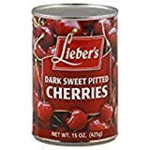 Lieber's Dark Sweet Pitted Cherries 15 Oz. Pack Of