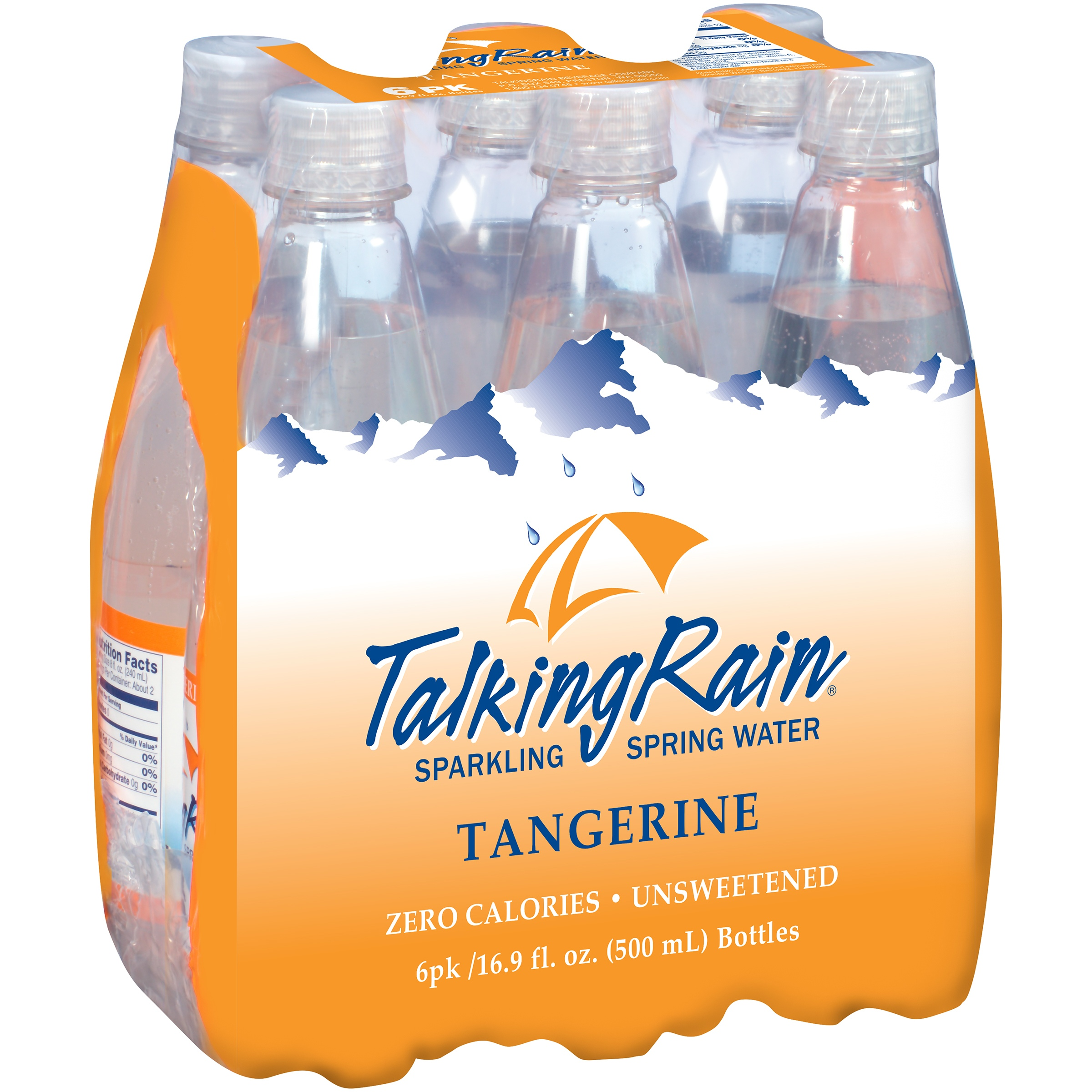 89d7efadf6 Talking Rain® Tangerine Sparkling Water, 16.9 Fl Oz Bottle (Pack of 6)  - Walmart.com
