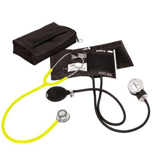 Prestige Medical Aneroid Sphygmomanometer/Clinical Lite Kit, Neon Yellow
