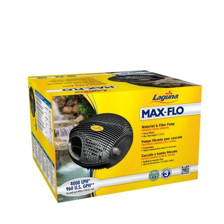 - Laguna Max-Flo 2000 Electronic Waterfall and Filter Pump for Ponds Up to 4000-Gallon
