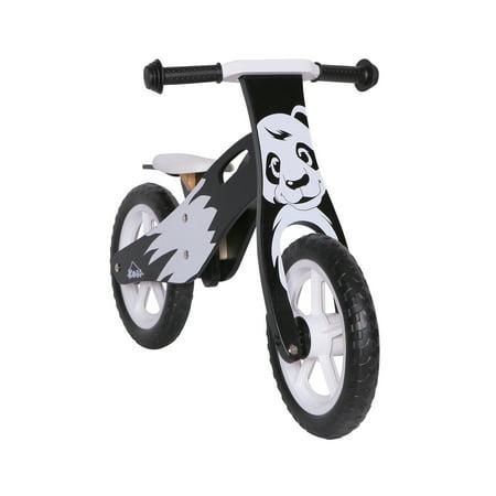 KOBE Wooden Balance Running Bike - Birch Wood No Pedals - Perfect Training Bike For Toddlers & Kids - Panda - image 9 de 11