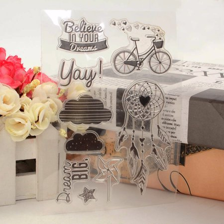 Transparent Clear Scrapbooking Decorating Rubber Stamp DIY Craft Cute Gift New