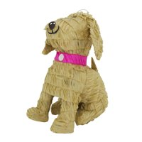 Lutema Beige Dog Pinata W/Pink Collar Ideal for Animal Themed Parties