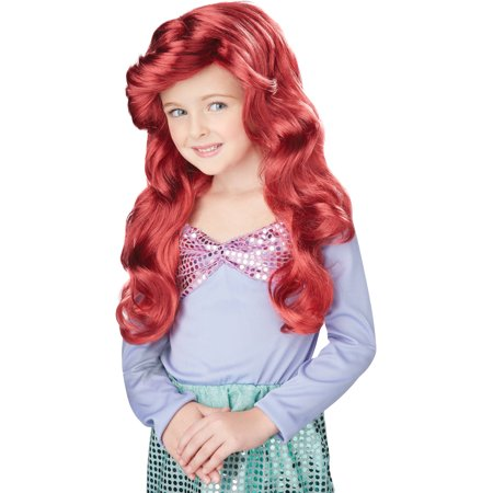 Asda Halloween Wigs (Disney Red Little Mermaid Wig Child Halloween)