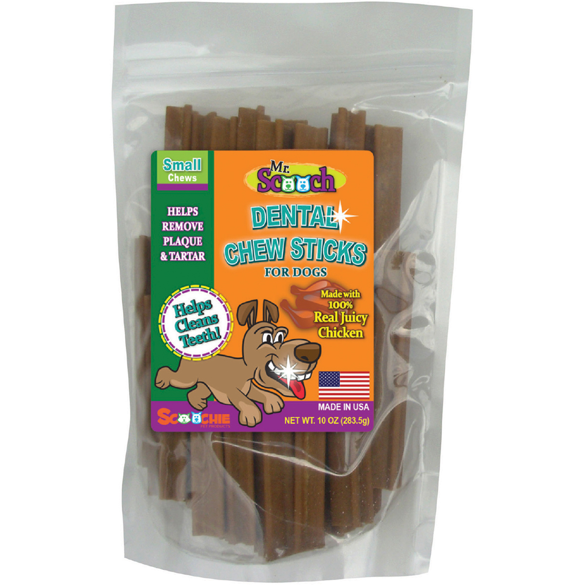 Mr. Scooch Dental Chews 10Oz-Chicken Small