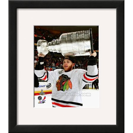 Patrick Kane with the Stanley Cup Game 6 of the 20... Framed Photographic Print Wall Art](Patrick Games)