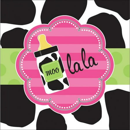 Baby Shower 'Cow Print Girl' Lunch Napkins (16ct) Baby Shower Lunch Napkins