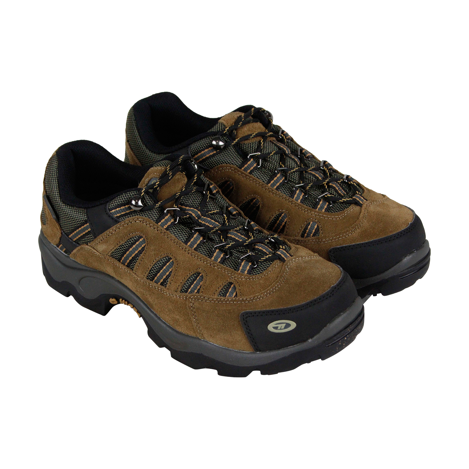 Hi-Tec Bandera Low Wp Mens Brown Suede & Nylon Hiking Lace Up Boots Shoes