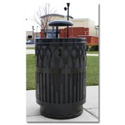 Witt Industries COV40P-AT-SLV Covington Collection Receptacles - Silver