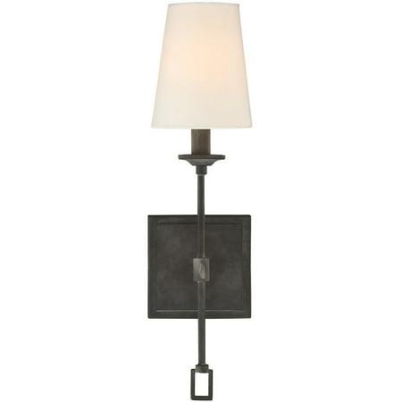 Black Oxidized Finish (Wall Sconces 1 Light With Oxidized Black Finish Candelabra Bulbs 18 inch 60 Watts )