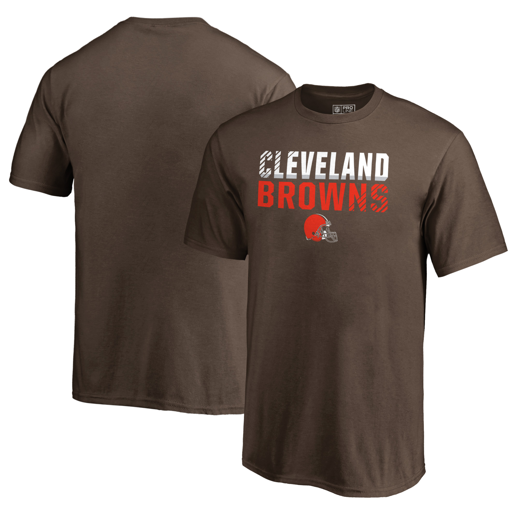 Cleveland Browns NFL Pro Line by Fanatics Branded Youth Iconic Collection Fade Out T-Shirt - Brown