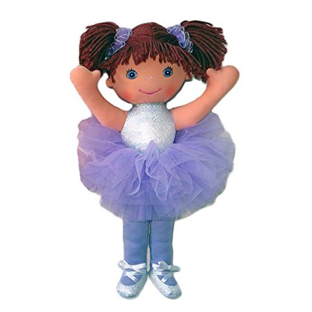 "Anico Well Made Play Doll for Children Ballerina with Pigtails 18"" Tall Lavender - image 1 of 1"