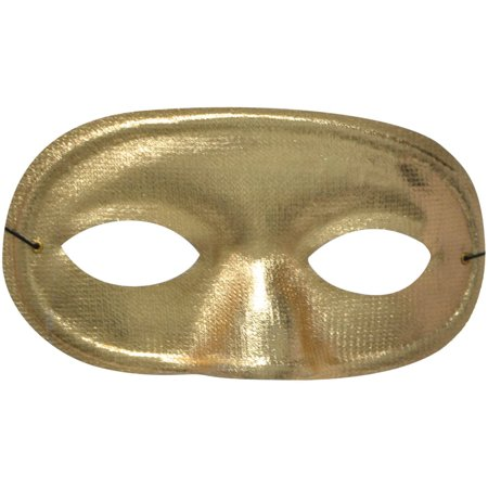 Gold Half Domino Mask Adult Halloween Accessory](Domino Group Halloween)