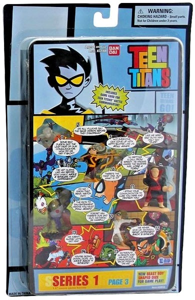 Teen Titans Series 1 Comic Book Heroes Page 3 Mini Figure by