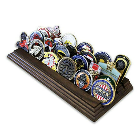 4 Row Stadium Rack Row Challenge Coin Rack