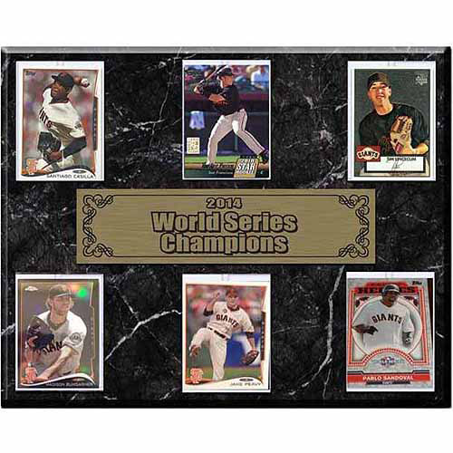 MLB 12x15 6-Card Plaque, San Francisco Giants Champions