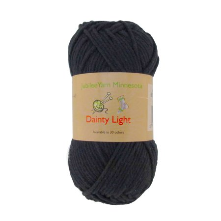 BambooMN Brand - Dainty Light Yarn 100g - 4 Skeins - 100% Cotton - Witching Hour Black - Color (001 Yarn)