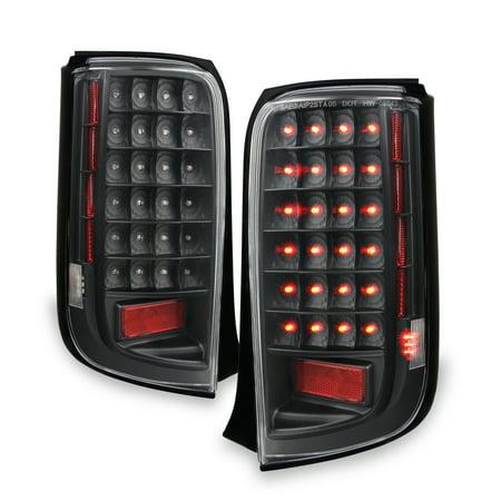 Fits 08-10 Scion Xb Bb Sport JDM Black Full LED Tail Lights Lamp Pair - Jdm Bb