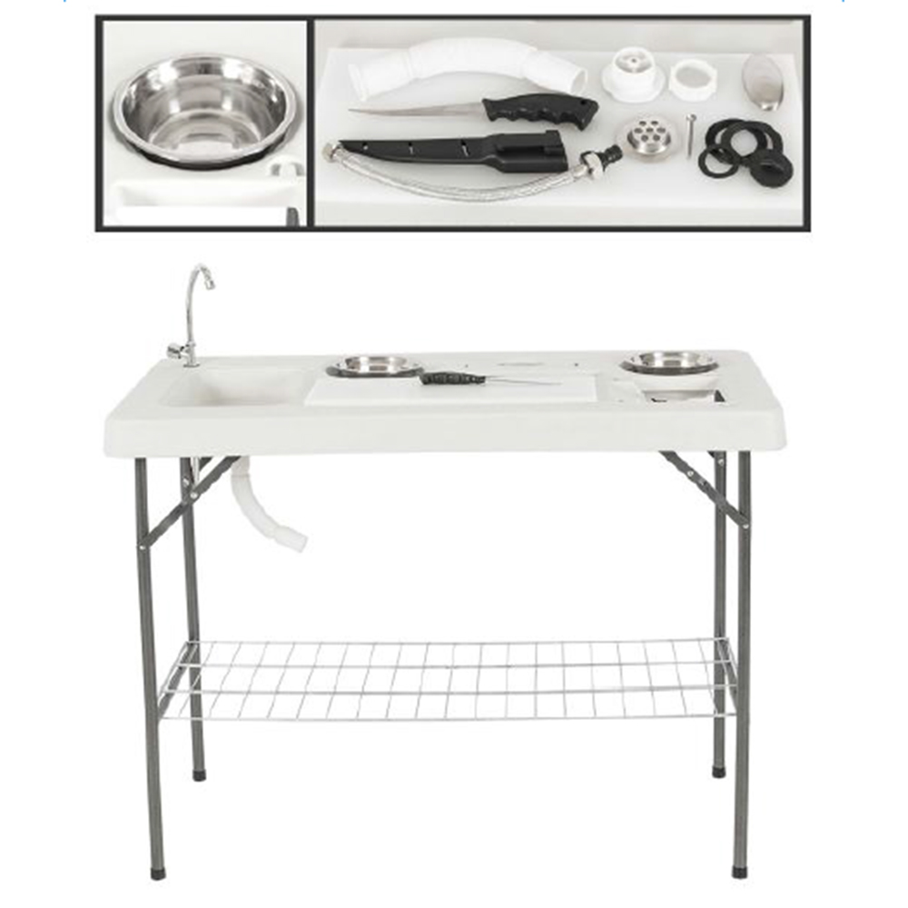 Zimtown Folding Portable Fish Table Hunting Cleaning Cutt...