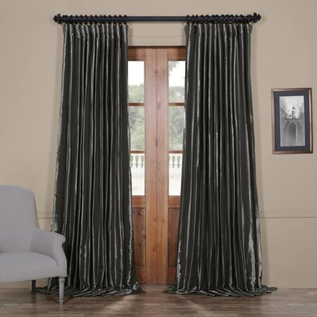 Half Price Drapes Faux Silk Extra Wide Taffeta Blackout Single Curtain Panel