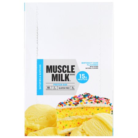 Cytosport Inc Muscle Milk Protein Bar Birthday Cake 12 Bars 176 Oz 50 G Eachpack Of 1