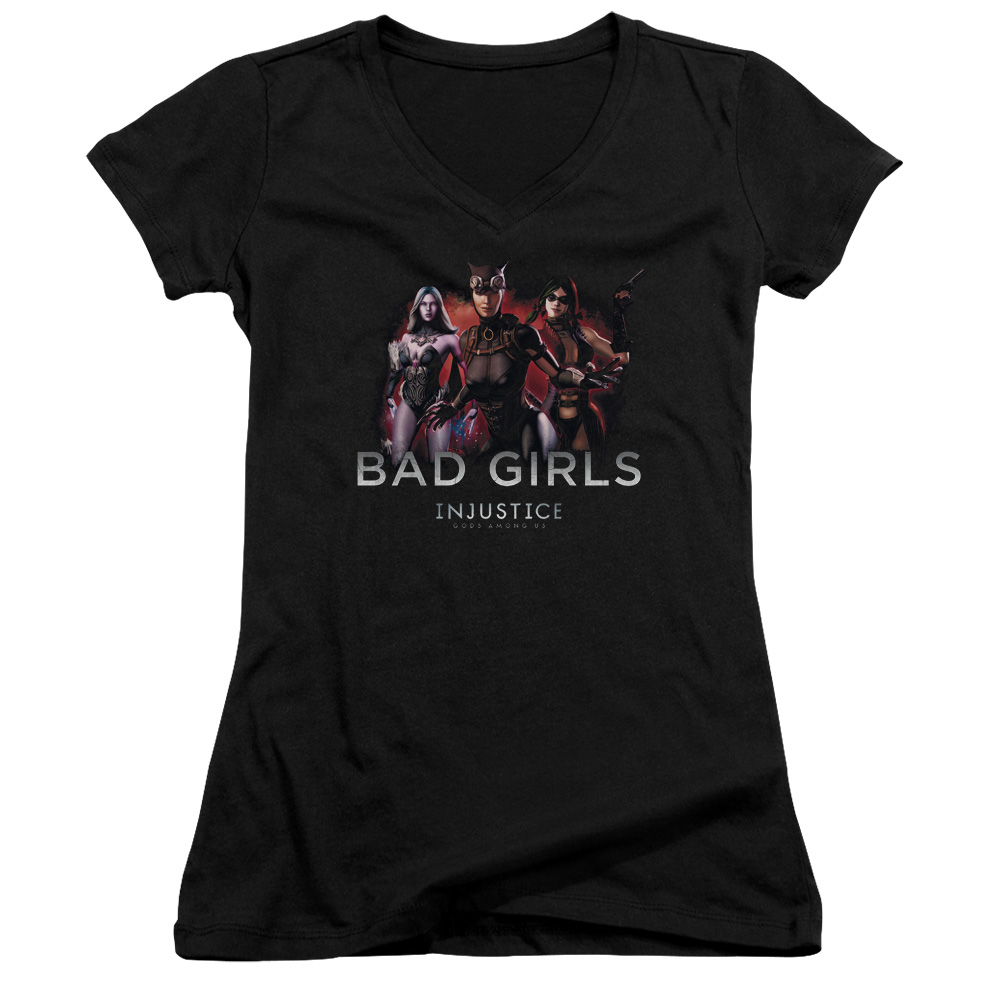 Injustice Gods Among Us Bad Girls Juniors V-Neck Shirt