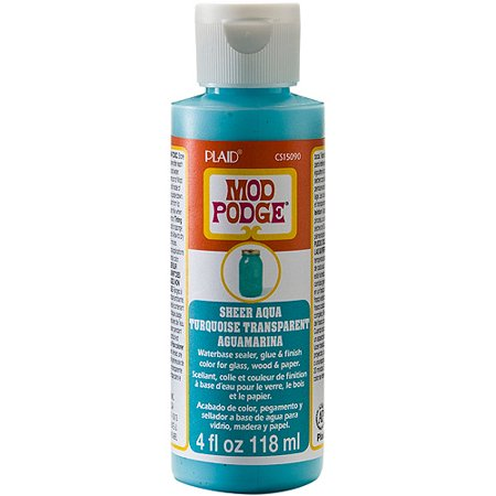 Aqua Oil Color (Mod Podge Sheer Color by Plaid, Aqua, 4)