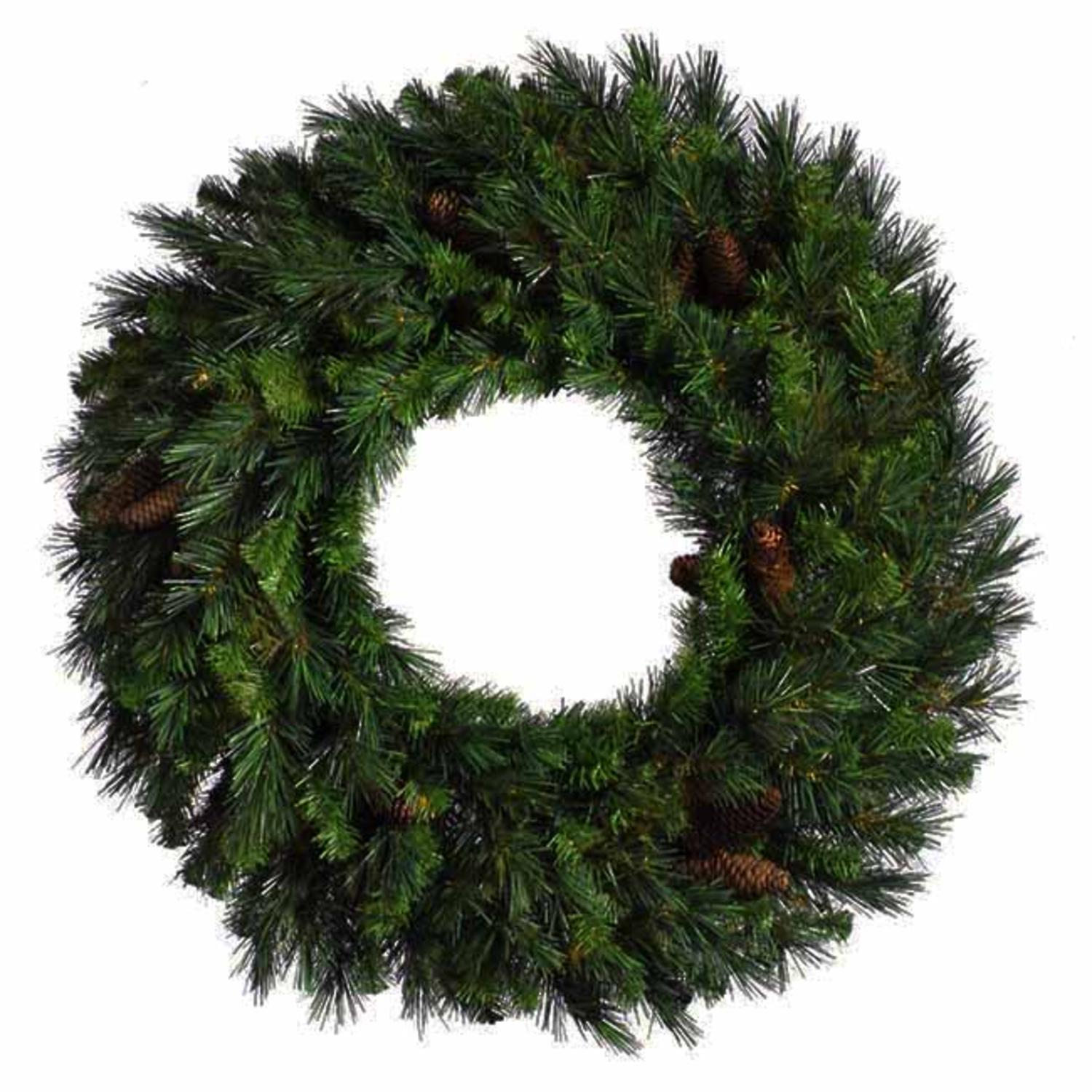 6' Cheyenne Pine Artificial Commercial Christmas Wreath with Pine Cones - Unlit