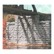 N Cut Stone Stepped Wall (2) Multi-Colored