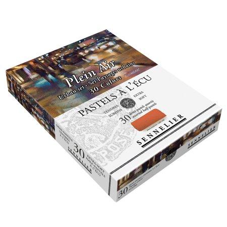Sennelier Extra Soft Pastels Cardboard Box Set of 30 Half Sticks - Urban Colors