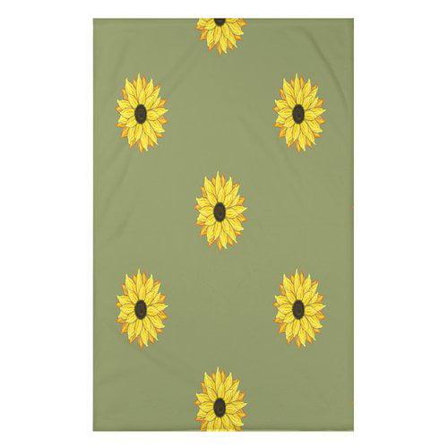 August Grove Vieux Sunflower Frenzy Flower Print Throw Blanket