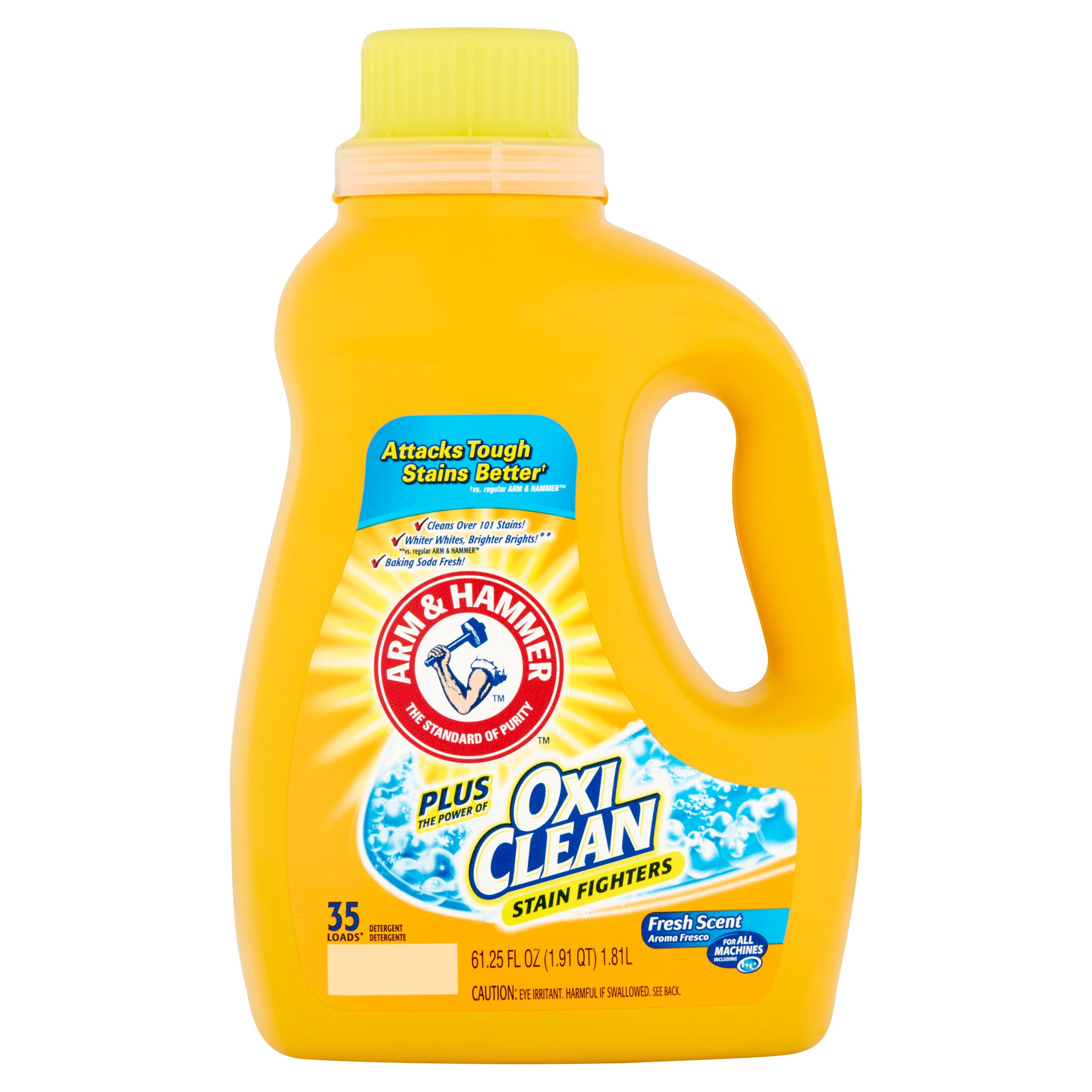 Arm & Hammer Liquid Laundry Detergent Plus Oxi Clean, 35 Loads, 61.25 Oz