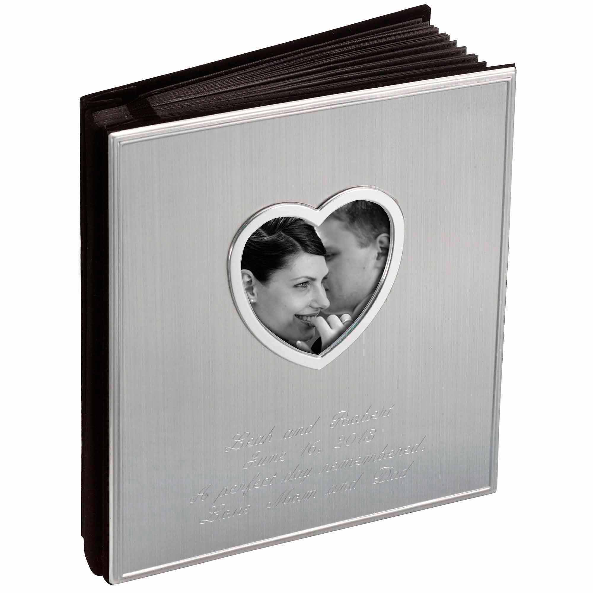 Personalized Satin Photo Album with Heart Opening by Generic