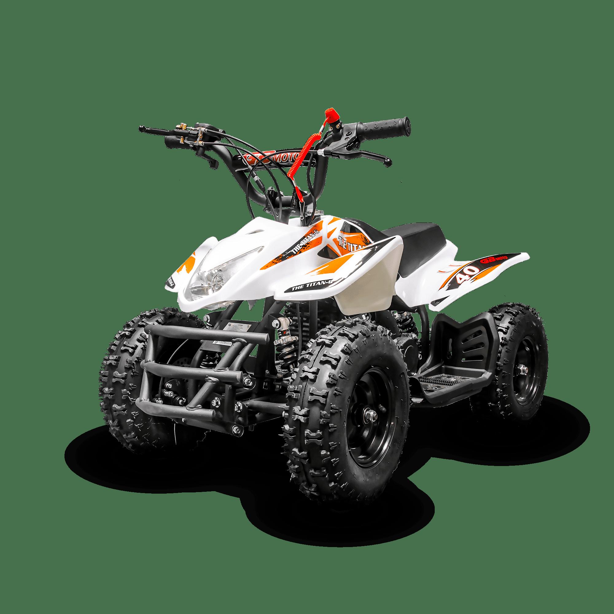 40cc 4 Stroke Gas Power Atv Off Road Mini Quad Titan For Kids Orange Walmart Com Walmart Com