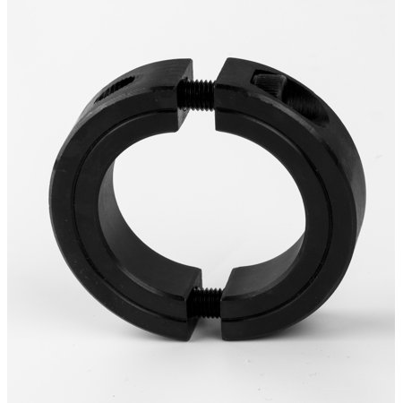 5/8'' (0.63'') Bore Double Split Clamping Shaft Collar Black Oxide Plated (2PCS)