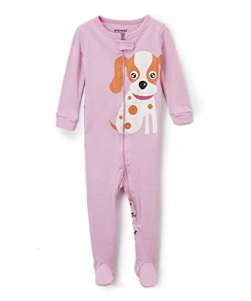"Elowel Baby Girls footed ""Dog"" pajama sleeper 100% cotton 18-24 Months"