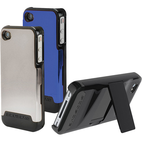 Scosche Polycarbonate case w/ interchangeable backs for iPhone 4/4s (Chrome & Blue)