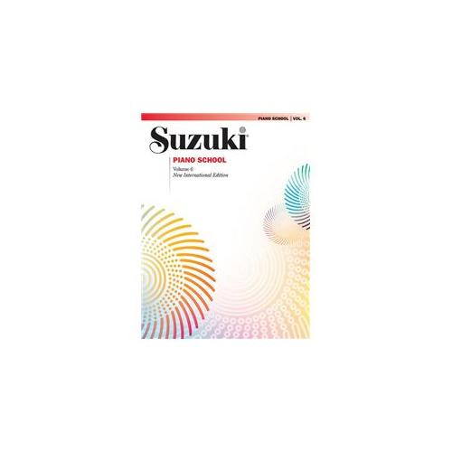 Alfred 00-0443SX Suzuki Piano School New International Edition Piano Book- Volume 6 - Music Book